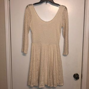 Abercrombie and Fitch cream lace dress